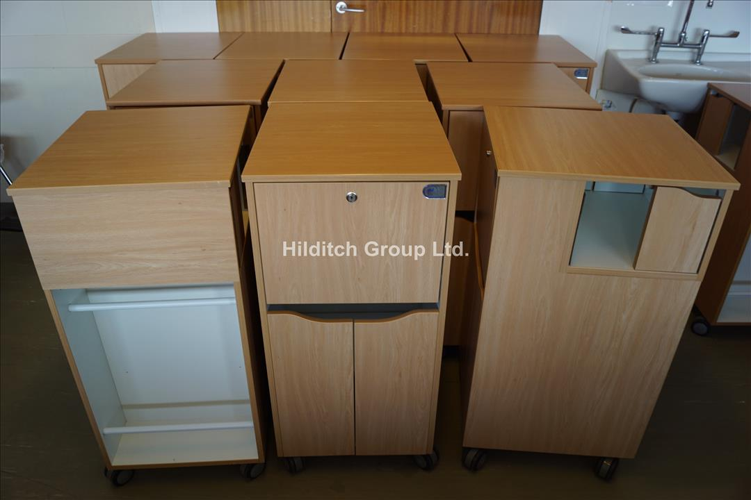 10 x Lockable Bedside Lockers, Various Conditions (No Keys)