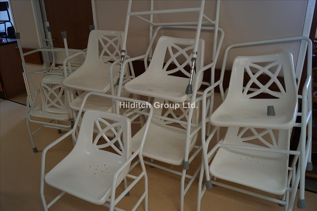 11 x Shower Chairs, Various Types
