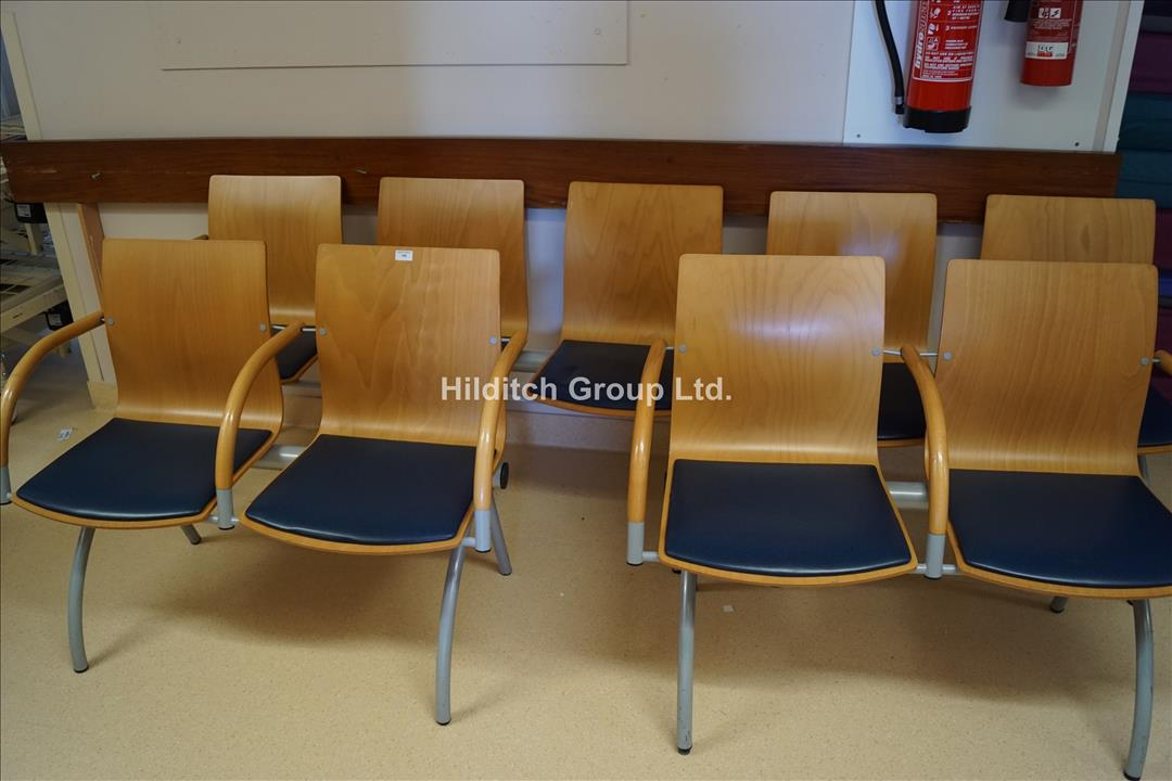1 x Set of 3 Waiting Room Chairs and 3 Sets of 2 Waiting Room Chairs