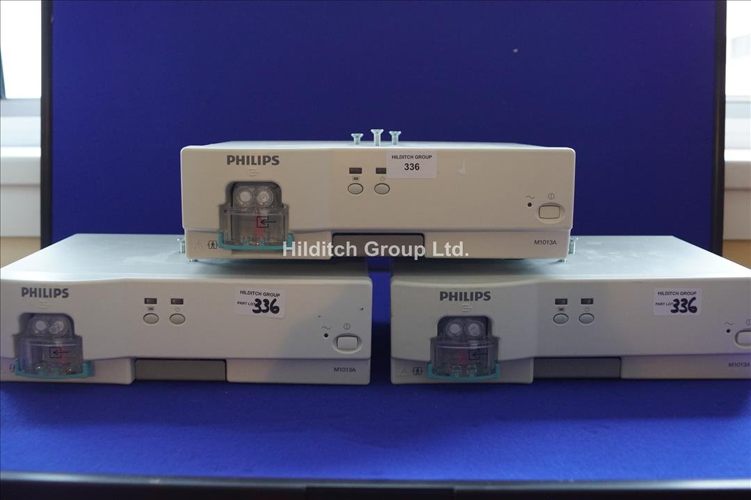 3 x Philips M1013A Gas Analyzers | SN ASCA-0015 | SN ASAC-0037 | SN ARWK-0012