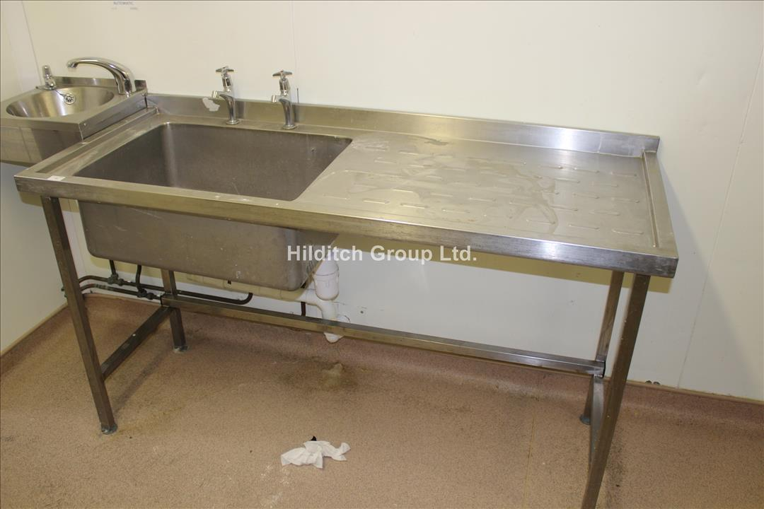 Stainless Steel Sink Right Hand Drainer - 160cm x 60cm