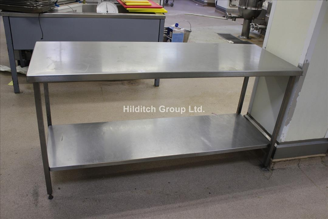 Stainless Steel Table with Under Shelf - 173cm x 61cm