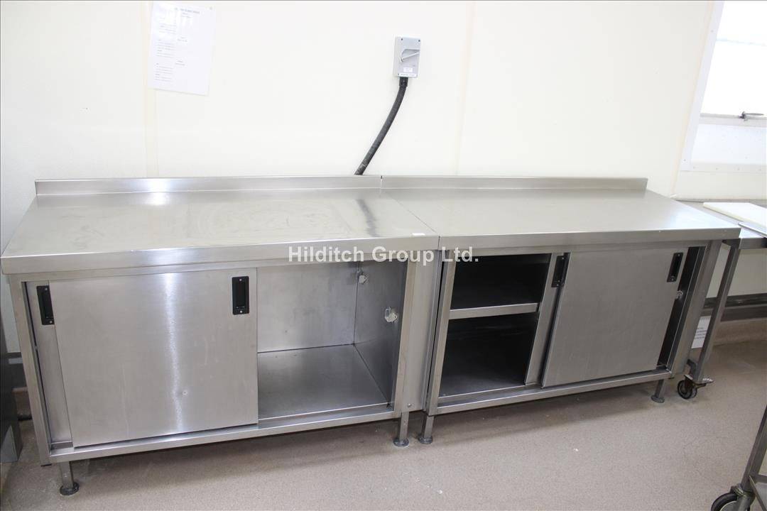 Stainless Steel Ambient Wall Cupboard with Sliding Doors - 260cm x 60cm