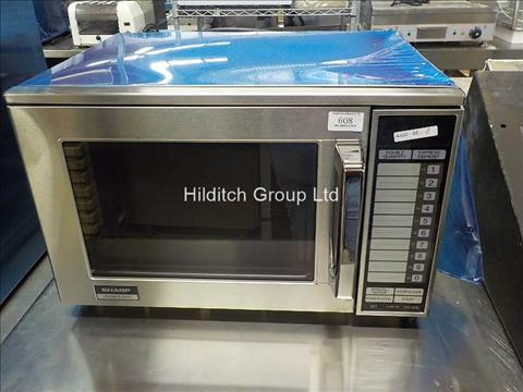 Sharp 1500W SR24AT Microwave Oven (Dented)